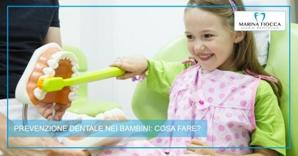 Studio Dentistico Marina Fiocca - prevenzione nei bambini